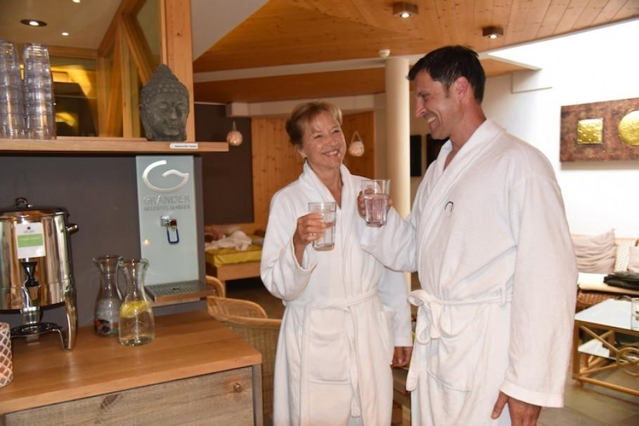 Im Hotel Alpin Juwel verfügt jedes Zimmer über einen GRANDER®-Trinkbrunnen